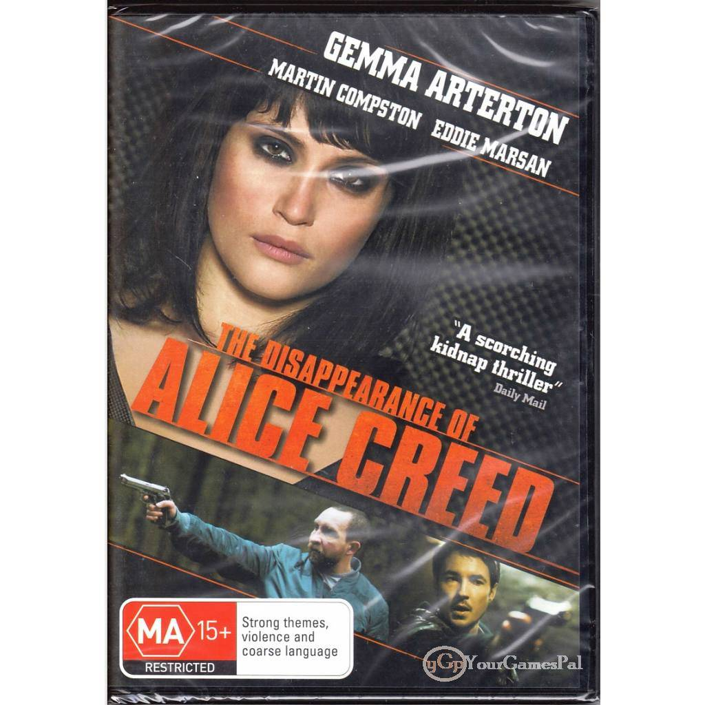 DVD-THE-DISAPPEARANCE-OF-ALICE-CREED-Gemma-Arterton-KIDNAP-THRILLER-R4-PAL-BNS
