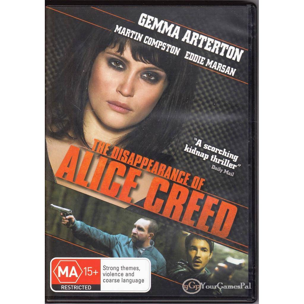 DVD-THE-DISAPPEARANCE-OF-ALICE-CREED-Gemma-Arterton-THRILLER-R4-NOT-SEALED-BN