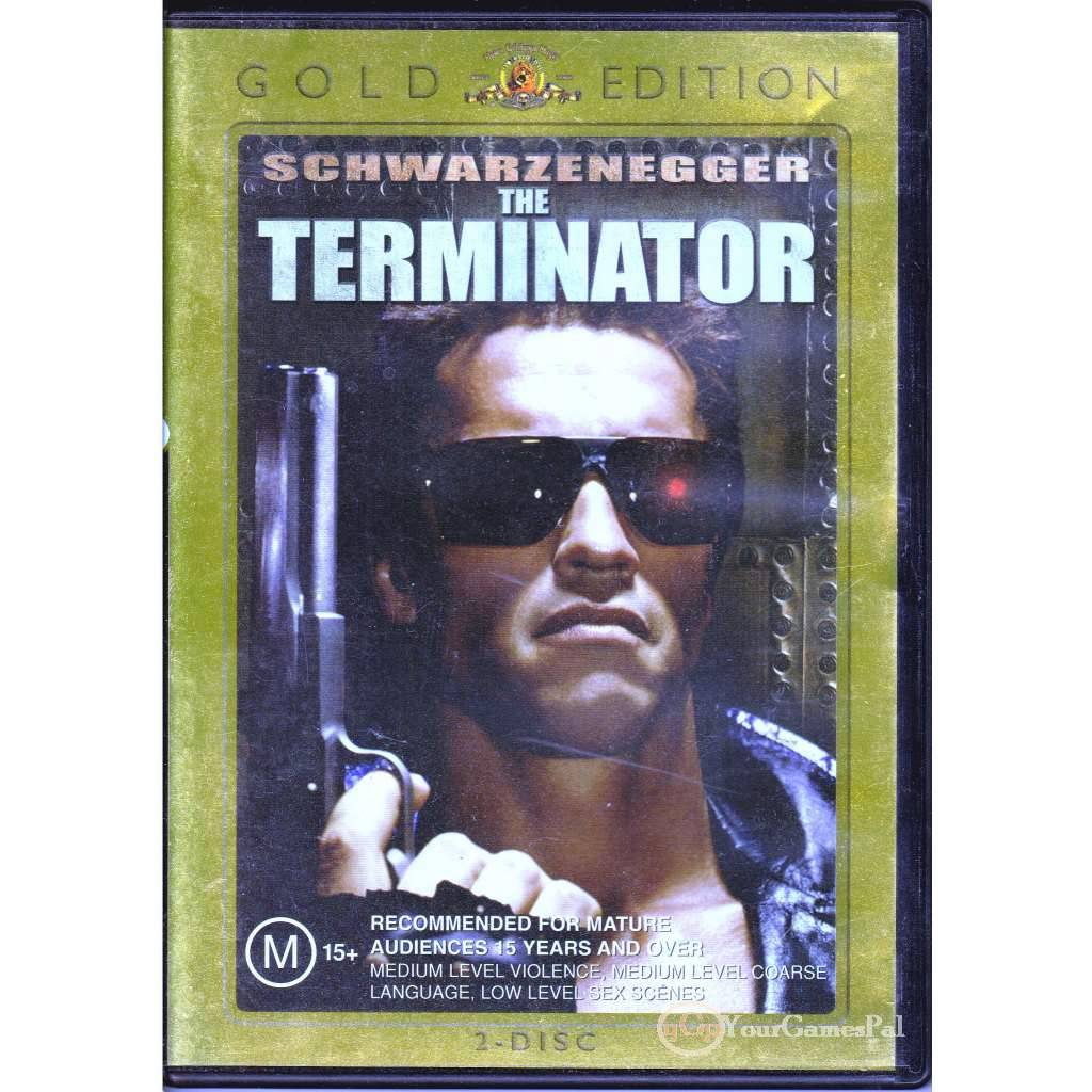 DVD-THE-TERMINATOR-SCHWARZENEGGER-2DISC-GOLD-EDITION-JAMES-CAMERON-ACTION-R4-VG