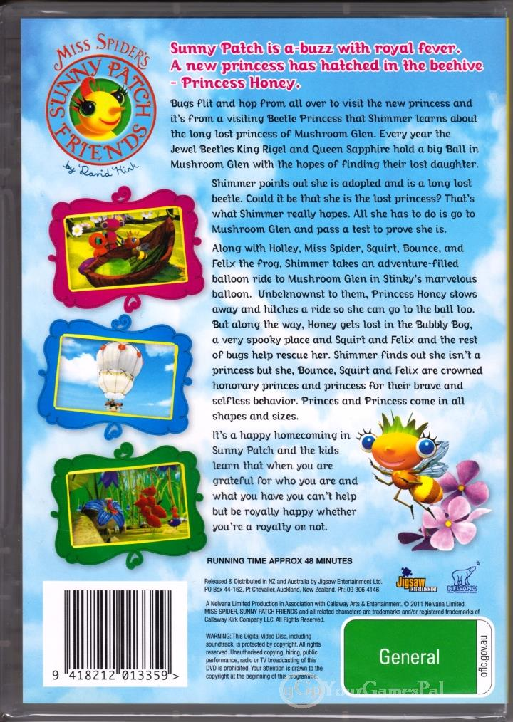 Dvd Miss Spider S Sunny Patch Friends The Prince Princess