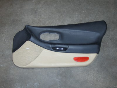 C5 Corvette Right Door Card Panel Black And Tan Ebay