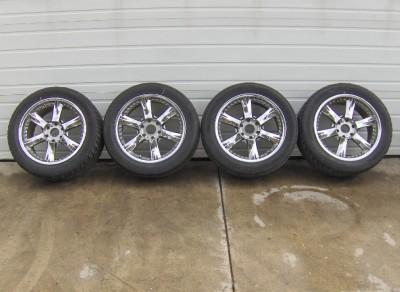 "20 inch 20"" Giovanna Anzio Wheels Tires 295 45 20 Set Used 6x5 5 Chevy"