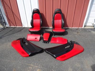 2004 c5 corvette z06 red black interior package seats door - C5 corvette interior door panels ...
