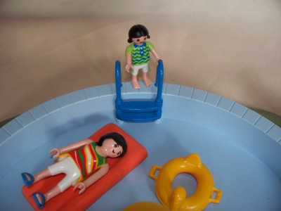 Playmobil swimming pool working shower for house 3205 ebay - Playmobil swimming pool best price ...