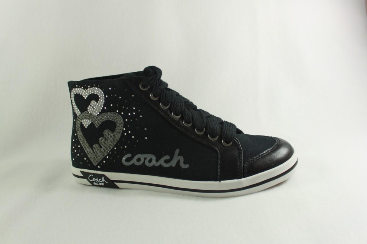 new coach brielle canvas leather trim s black