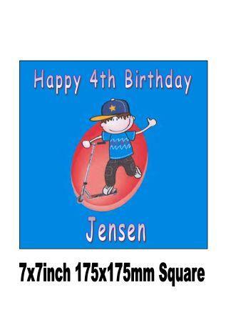Scooter-Boy-Birthday-Cake-Topper-Celebration-Party-FREEPOST-UK