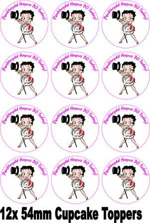 BETTY BOOP CAKE TOPPER (POSE 1) + PERSONALISED FREE ...