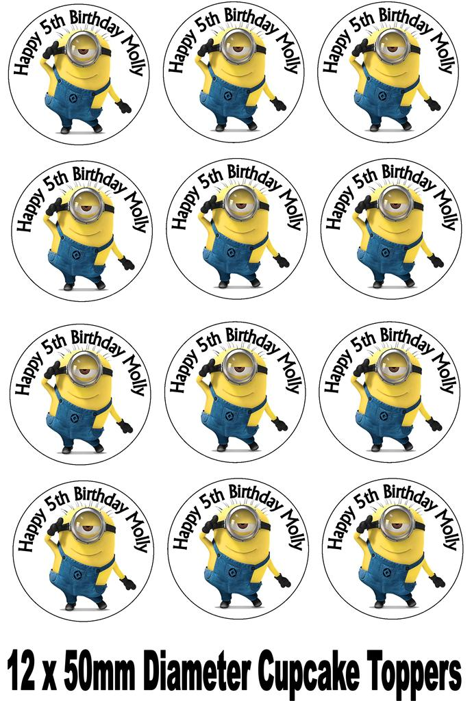 MINION - RICE PAPER IMAGE TOPPER +CHOICES+PERSONALISED FREE!!