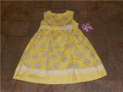 White  Dress on Blueberi Yellow Dress Sundress White Daisies 4 5 6 6x   Ebay