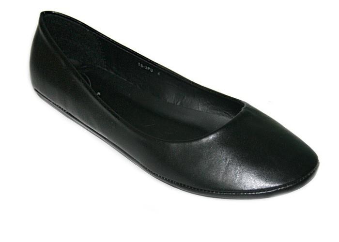 black flat ballerina dolly shoe sz uk 10 2 ebay