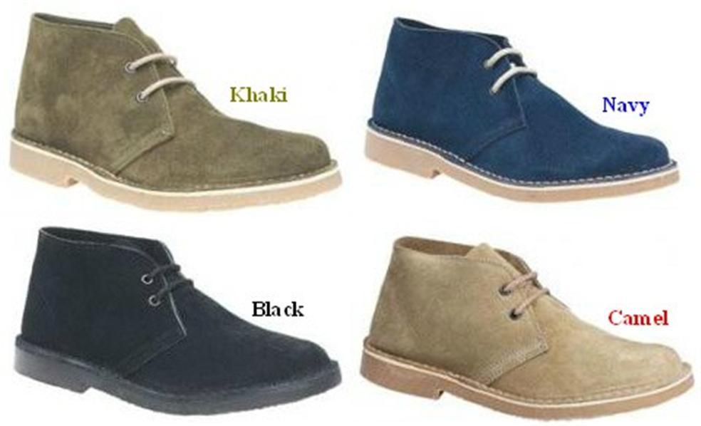 roamers mens suede leather desert boots size uk 6 12 ebay