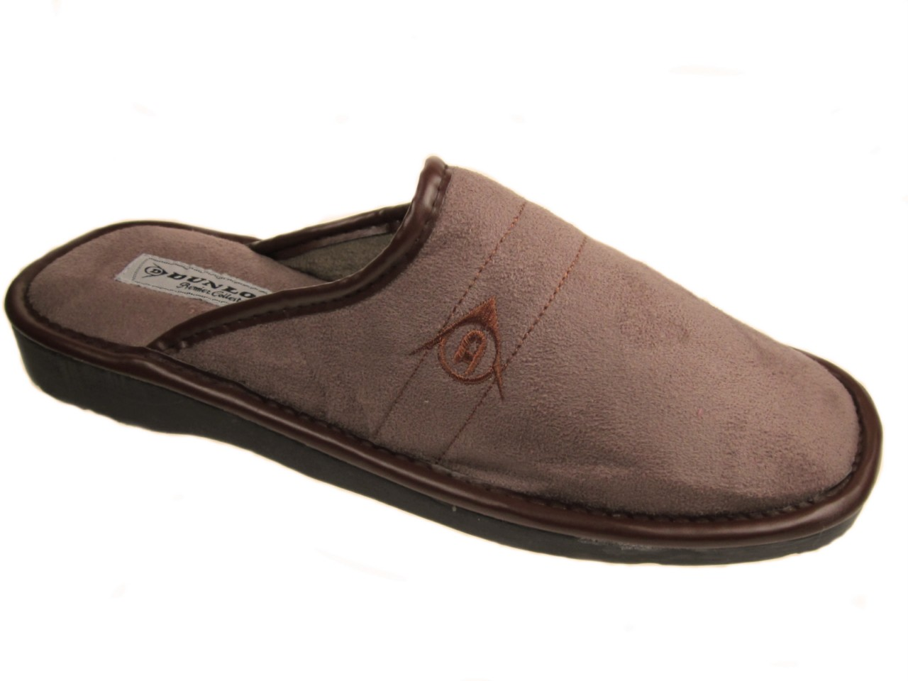 DUNLOP-MENS-MULE-SLIPPERS-BROWN-SIZE-UK-6-12-NEW