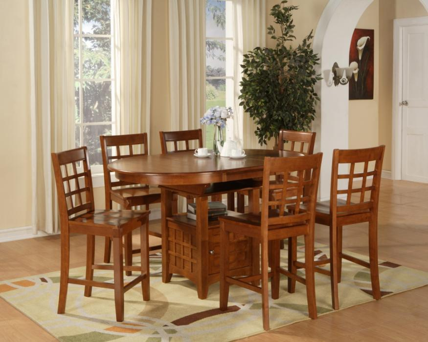 Oval Counter Height Dining Set 5pc Table And 4 Stools Ebay