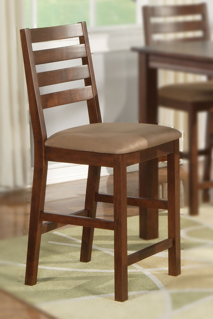 Counter Height Kitchen Chairs : Details about 4 COUNTER HEIGHT DINING KITCHEN CHAIRS WOOD SEAT OR ...
