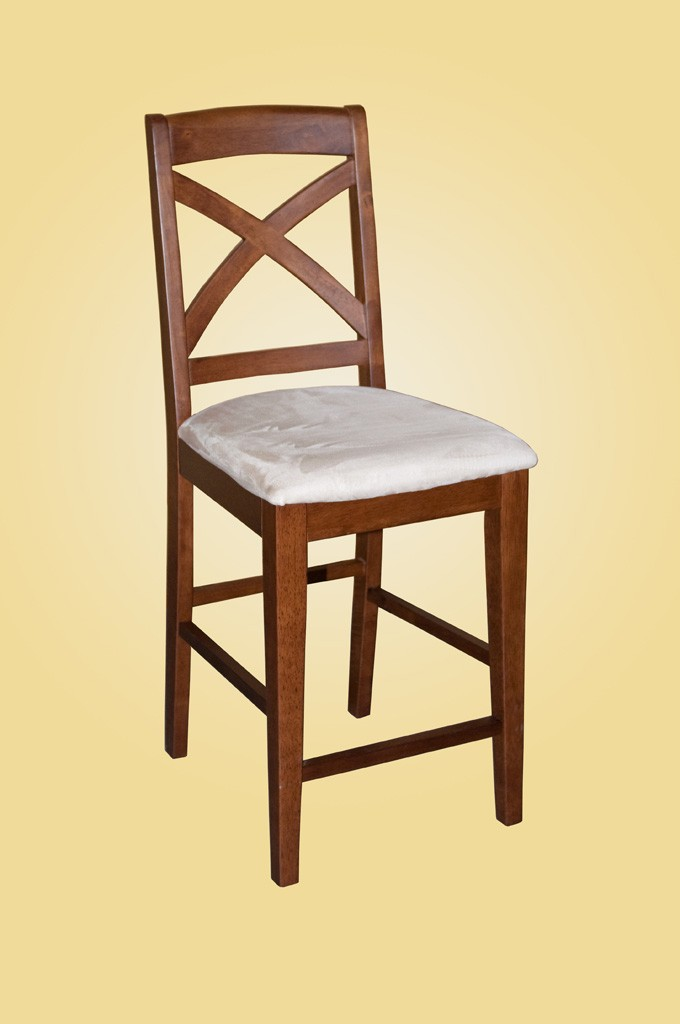 Set Of 6 Solid Wood Counter Height Stool Dining Kitchen Chair In Espresso EBay