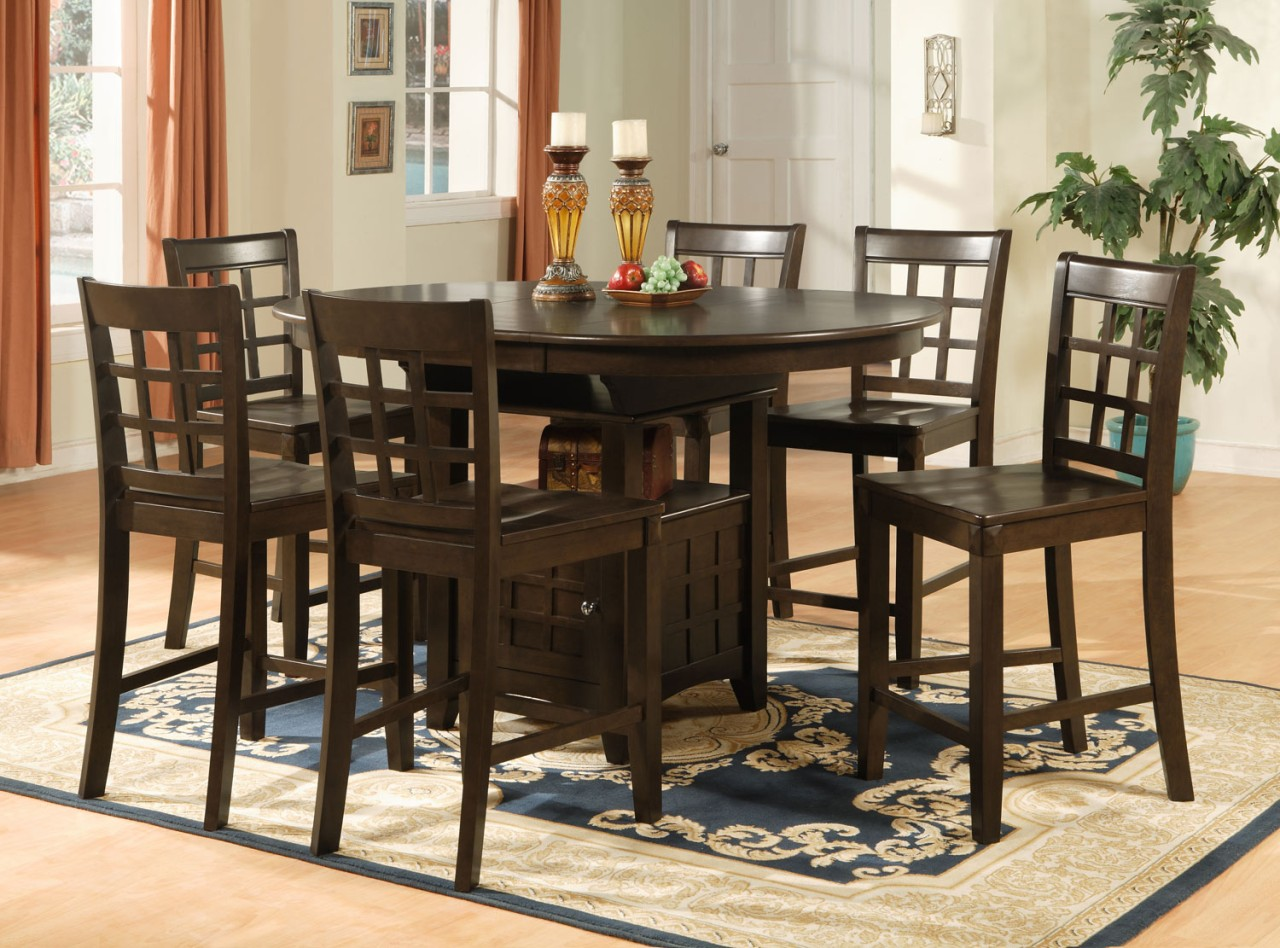 Oval counter height dining set 7pc table 6 bar stools ebay Counter seating