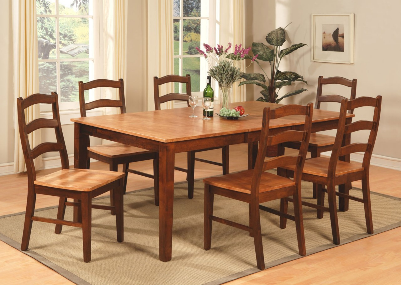 9pc Henley Rectangular Dinette Dining Room Set Table 8 Chairs Espresso Cinnamo Ebay