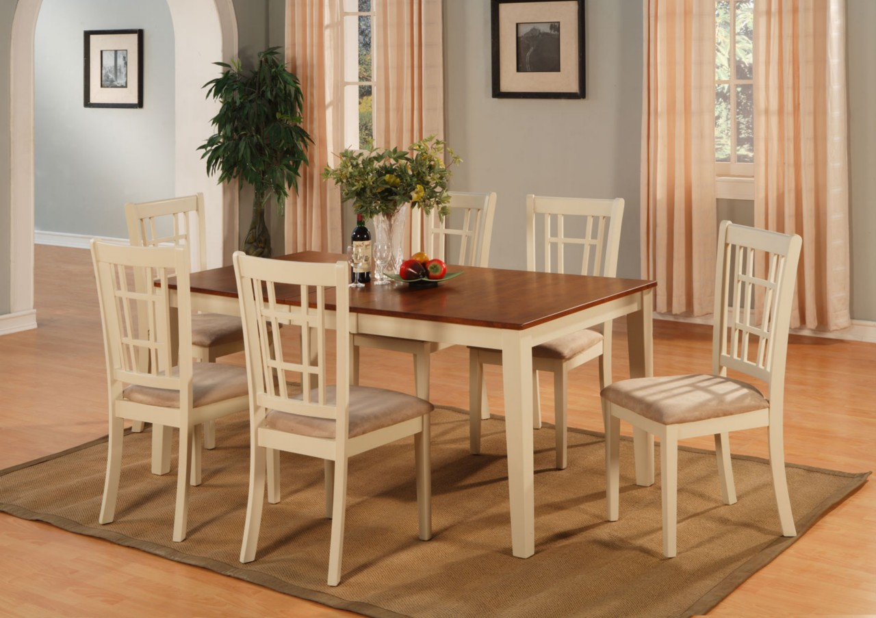 5 PC Dinette Kitchen Dining Room Set Table with 4 Upholstery ...