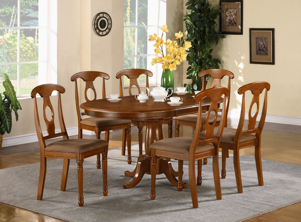 5 pc oval dinette dining room set table and 4 chairs ebay for Dinette set with bench