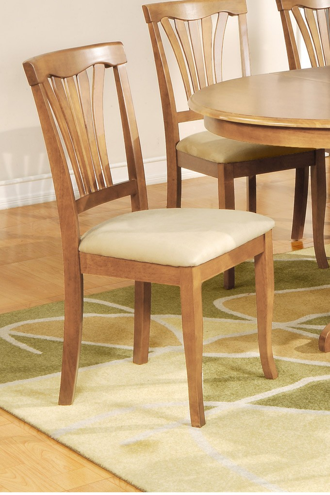 set of 4 avon kitchen dining chairs with upholstered seat oak finish