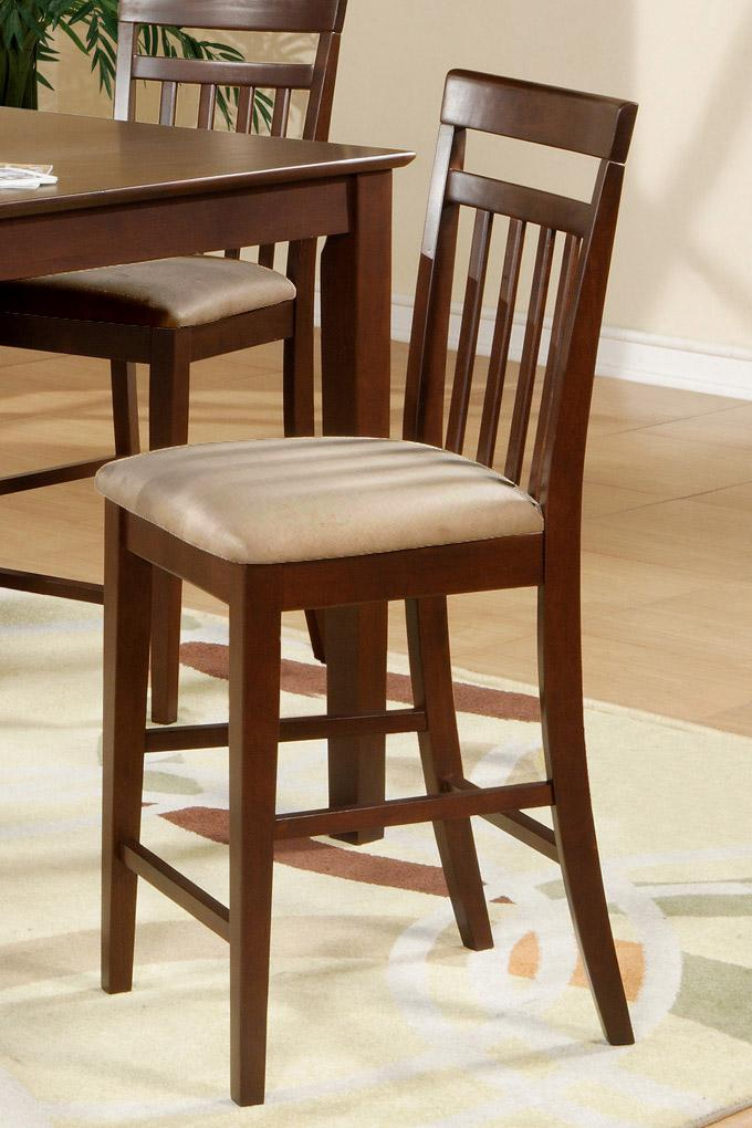Set Of 8 Solid Wood Counter Height Stool Dining Kitchen Chair In Mahogany EBay