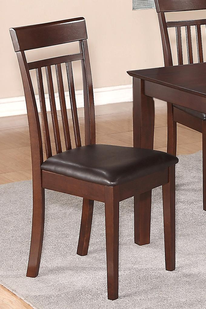 capri dining room kitchen dinette chair faux leather upholstered seat