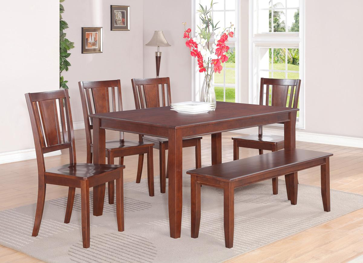 Dudley 5pc Rectangular Dining Dinette Set Table And 4 Wood