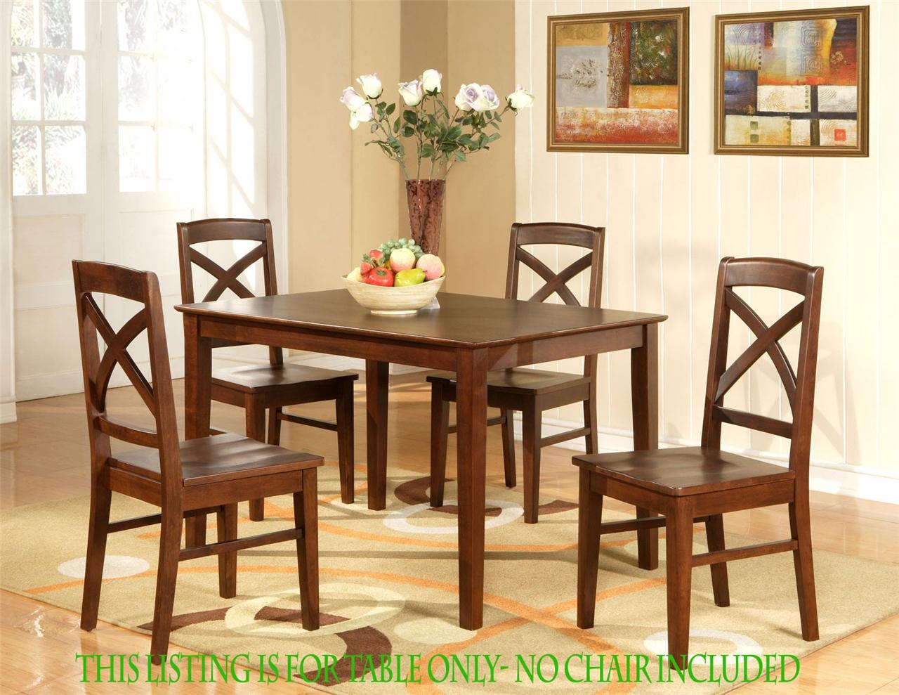 rectangular dining room kitchen table 36 x48 in espresso color no chair ebay. Black Bedroom Furniture Sets. Home Design Ideas