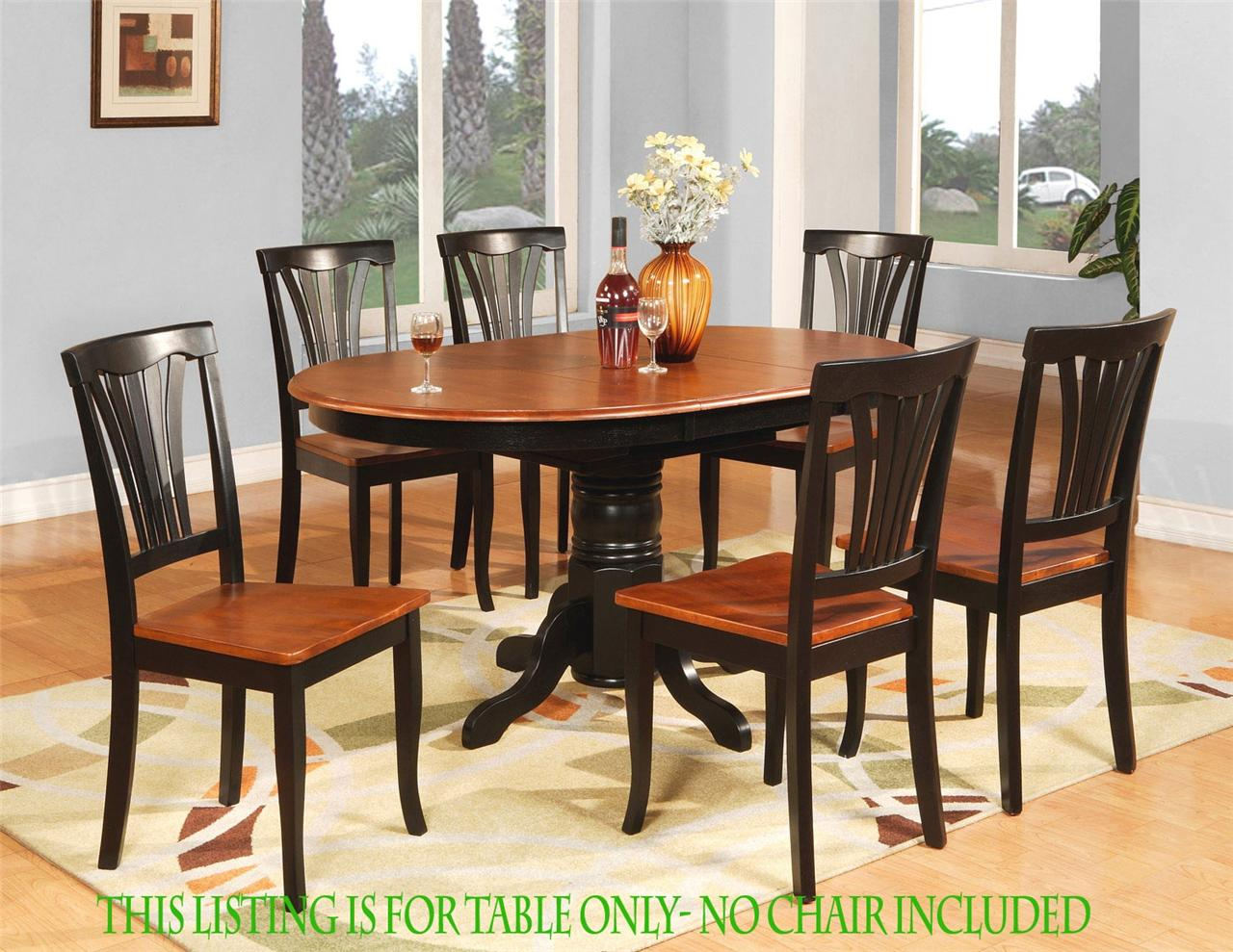 Oval dinette kitchen dining room table only 42 x 60 with for 3 leaf dining room tables