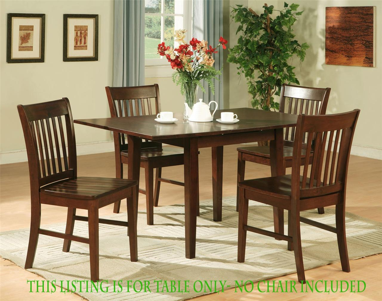 1 rectangular dinette kitchen dining table 32x54 w 12 butterfly leaf mahogany ebay - Round kitchen table with butterfly leaf ...