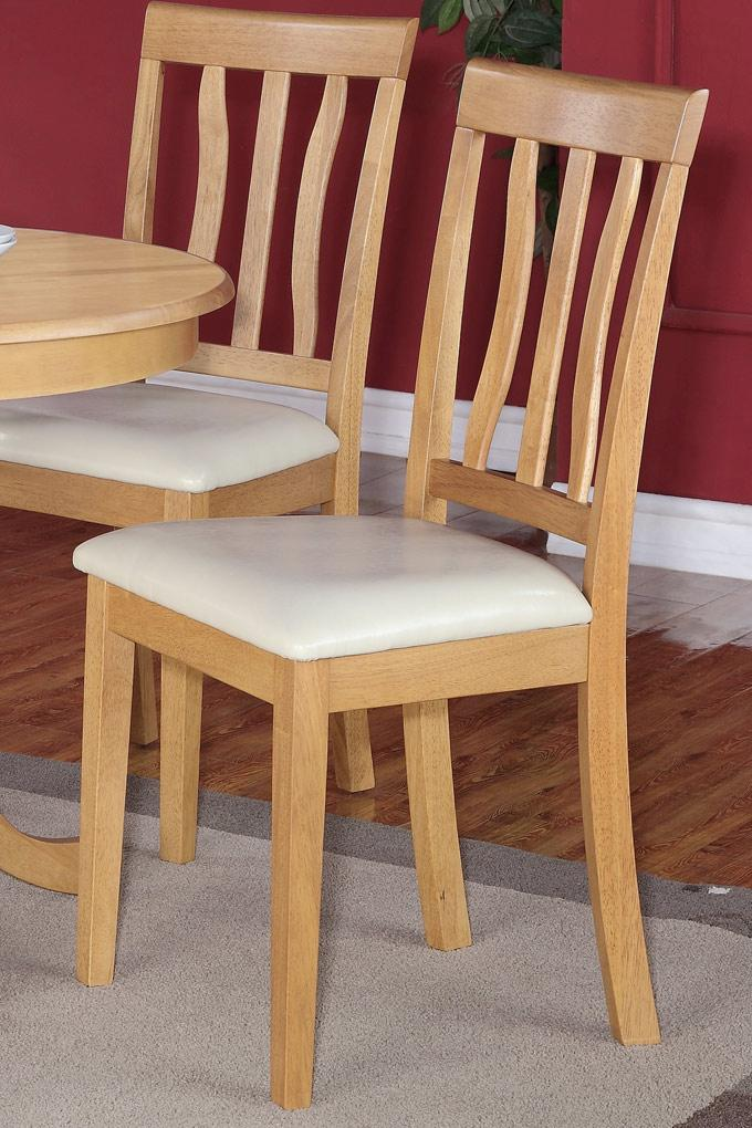 Set of 3 dinette kitchen padded dining chairs with leather for Kitchen chairs