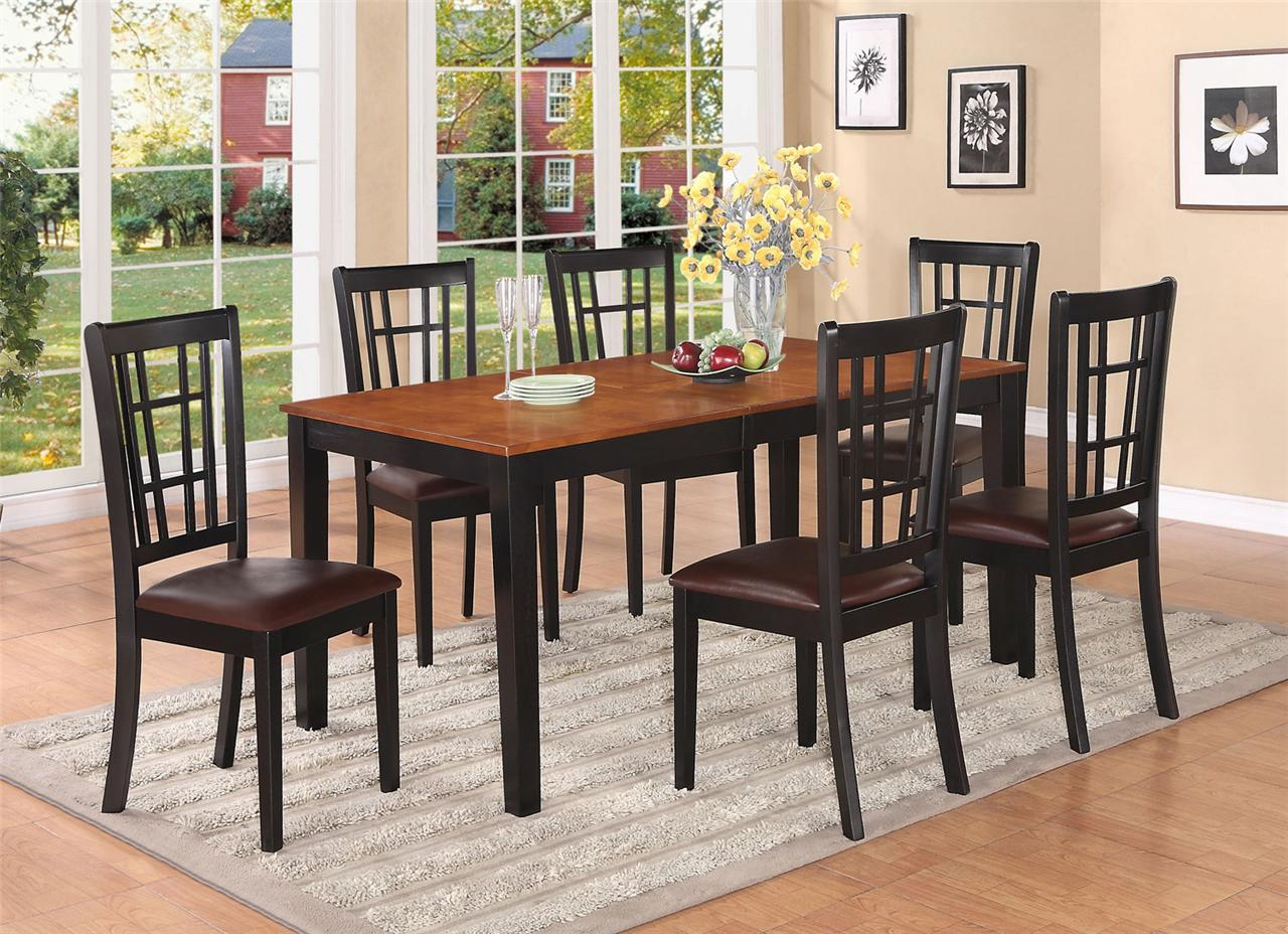 rectangular kitchen table sets 7pc rectangular kitchen dinet