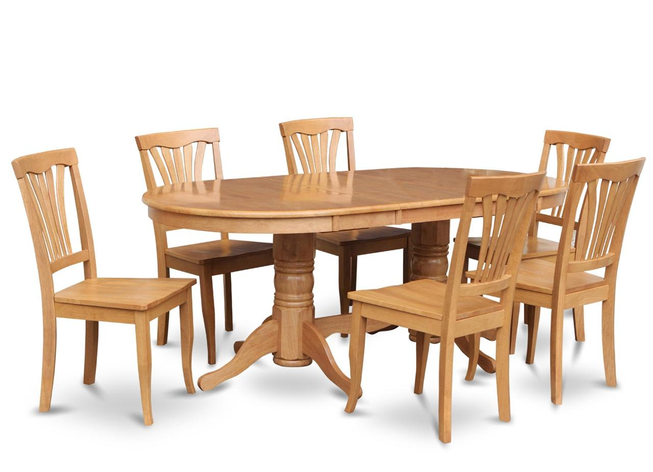 9pc oval dinette kitchen dining room set table with 8 wood seat chairs in oak ebay. Black Bedroom Furniture Sets. Home Design Ideas