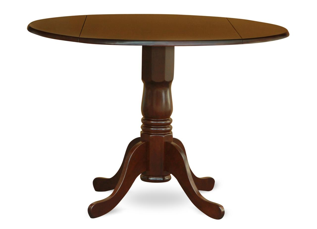 Round Kitchen Table with Drop Leaves