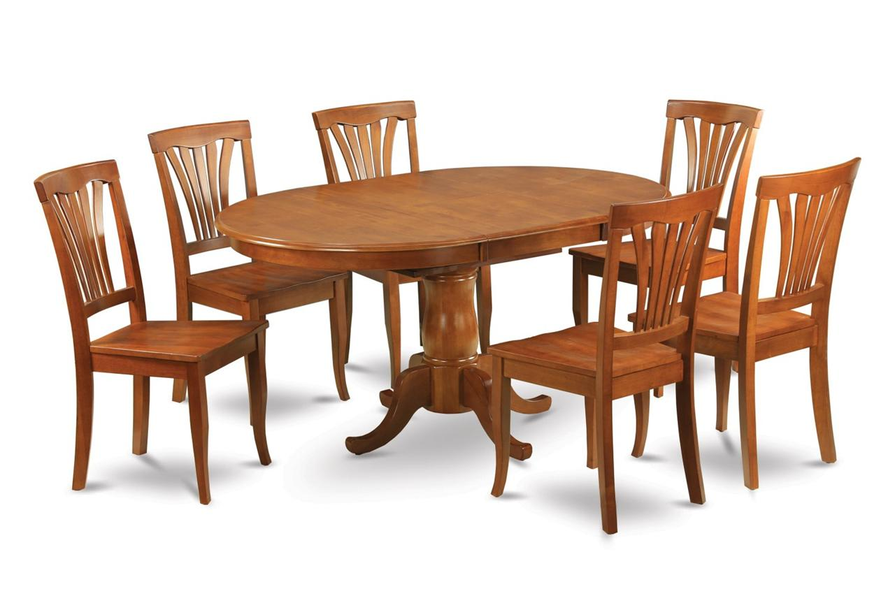 5pc oval dinette dining room set table and 4 chairs 42x60 in brown finish ebay - Oval kitchen table sets ...
