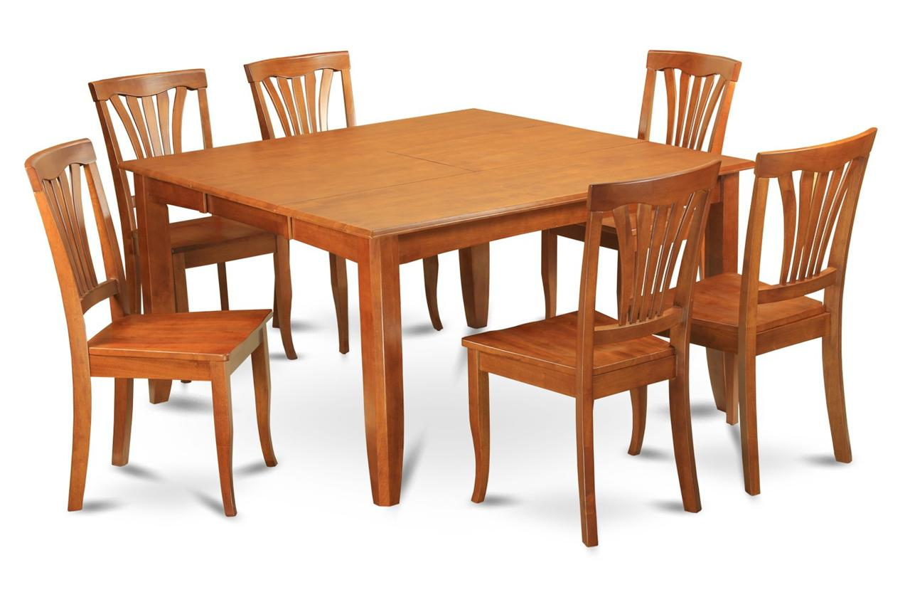 9pc square dinette kitchen dining table set 8 wood chairs for Square dinette sets