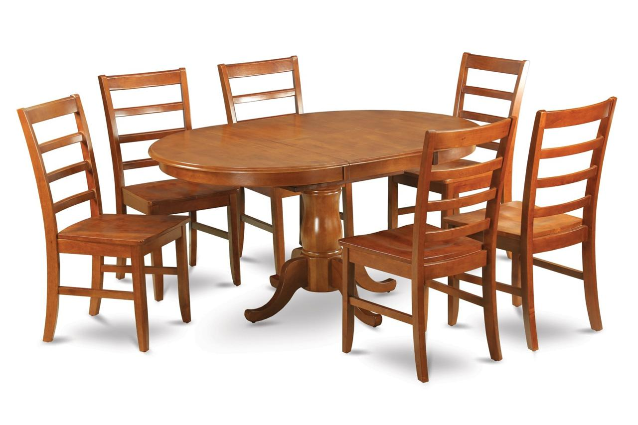 7 pc oval dinette dining room set table and 6 chairs 42x60 for Dining room table 42 x 60