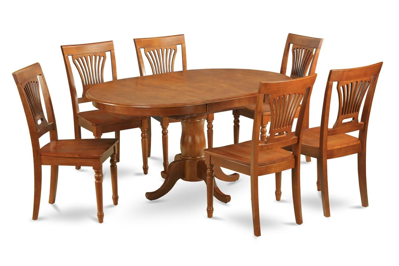 5pc oval dinette dining room set table and 4 chairs 42x60 for Dining room table 42 x 60