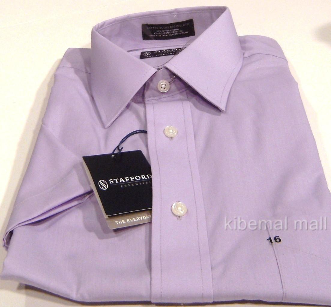 Nwt stafford essentials everyday men 39 s dress shirt s s for Stafford dress shirts fitted