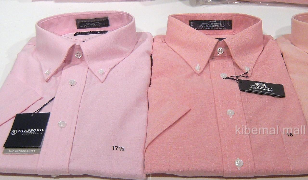 Stafford Dress Shirts Short Sleeve Rldm