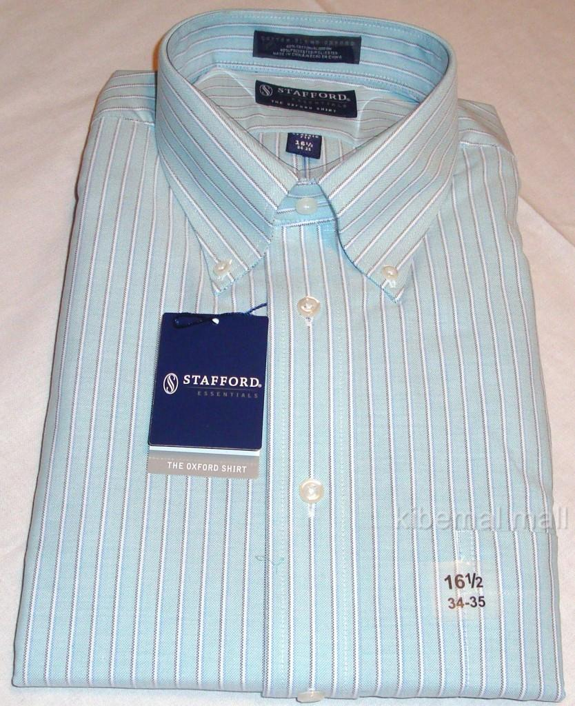 Nwt stafford essentials men 39 s oxford shirt classic fit for Stafford dress shirts fitted