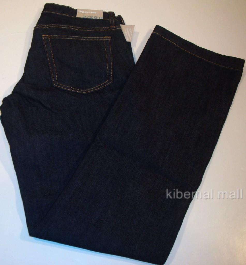 NWT~GAP Long and Lean Dark Rinse Jeans Slim Through Hips With a Flared Leg
