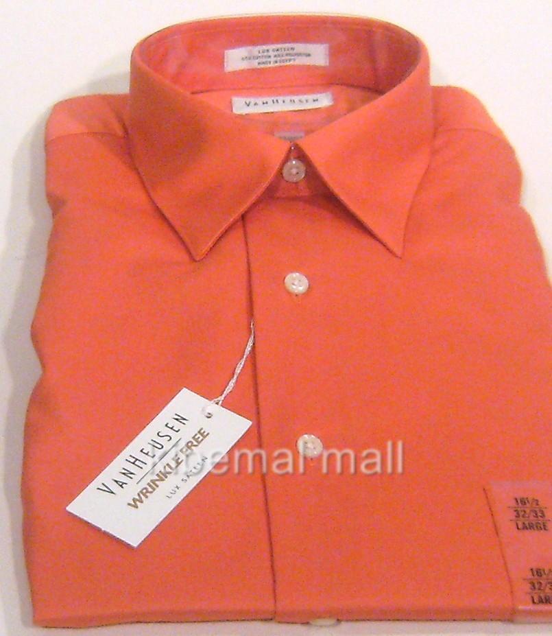 Nwt Van Heusen Men 39 S Dress Shirt Lux Sateen Wrinkle Free