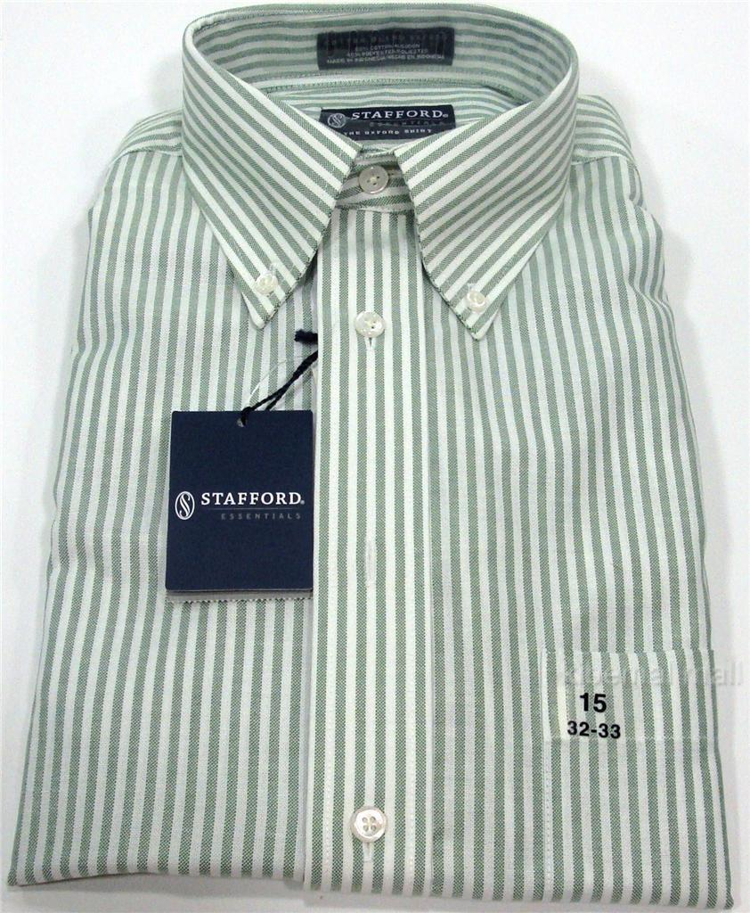 Nwt stafford essentials men 39 s oxford dress shirt regular for Stafford white short sleeve dress shirts