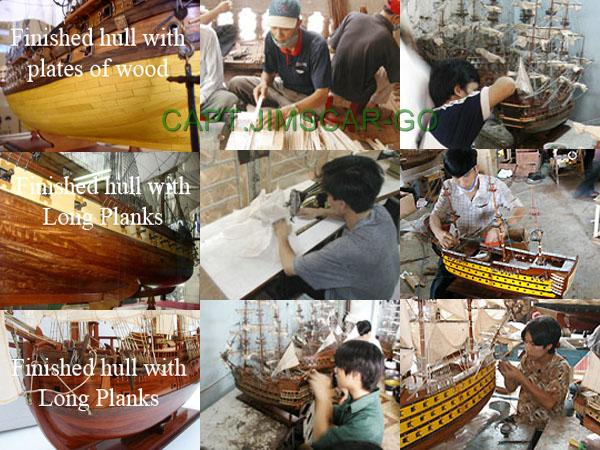 wood model ship building