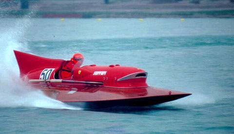 "RC Ferrari Arno XI Hydroplane Wooden Model 34"" Built Speed ..."