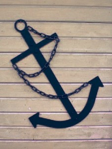 Black Ship 39 S Anchor Wall Decor Flat Metal 34 Handcrafted