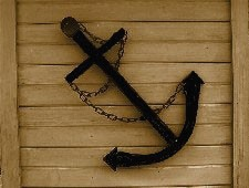 Handcrafted Black Steel Anchor Nautical Wall Decor