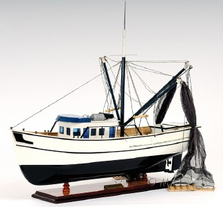 Wooden Scale Model Fishing Work Boats