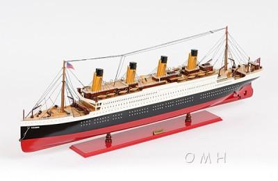 Titanic Ocean Liner Wooden Model Cruise Ship Boat